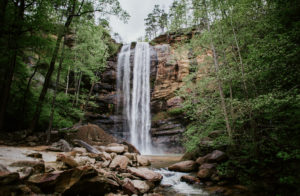 Toccoa Falls in spring