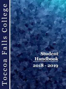 TFC Student Handbook