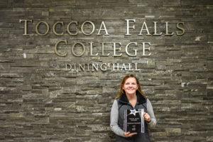 Melissa with Chartwells award