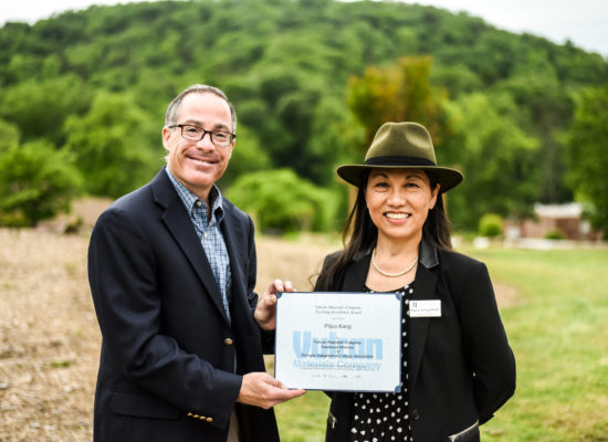 Dr. Kang receiving Vulcan